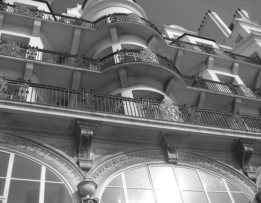 Old Hotel in black and white by gothgirl