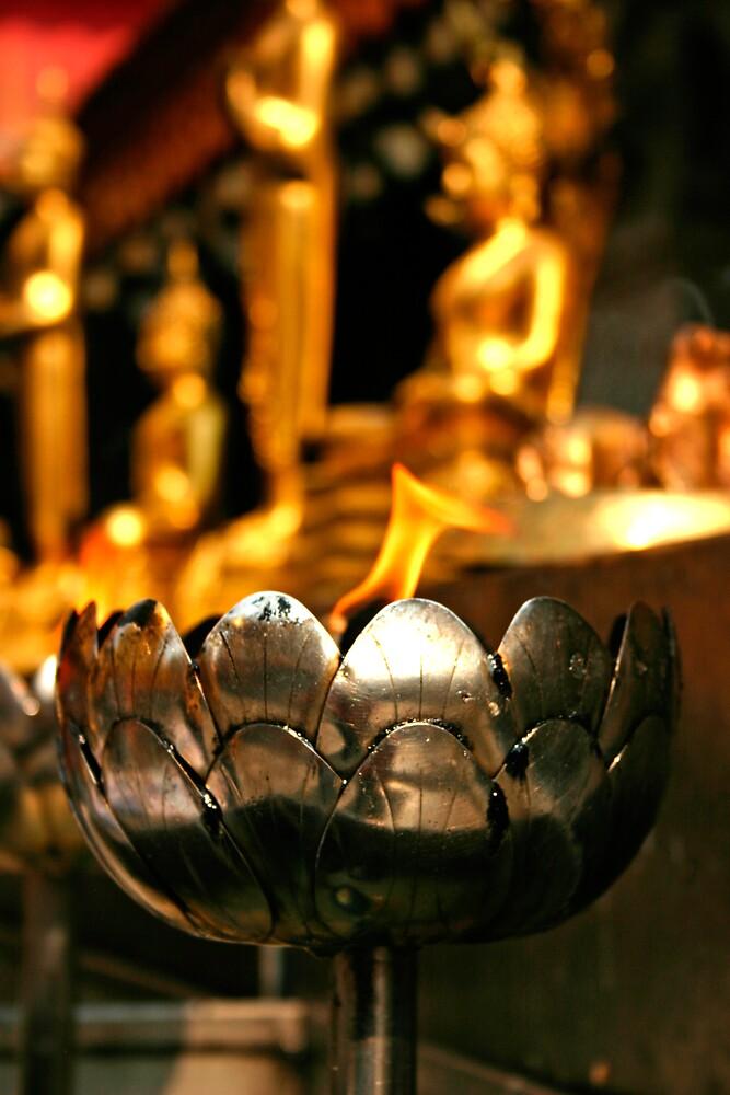 Thai Temple Flame by gematrium