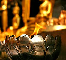 Thai Temple Flame by gematrium