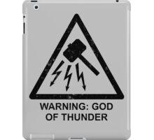 Warning: God of Thunder iPad Case/Skin