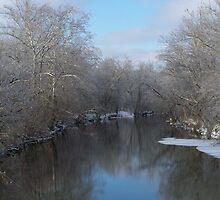winter stream by JlAndrews