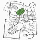 Green Pill by Bizarro Art