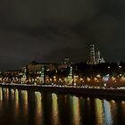 Moscow's Kremlin at night by Jon Ayres