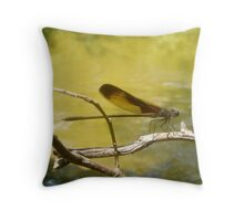 American Rubyspot Throw Pillow