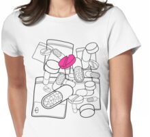Pink Pill Womens Fitted T-Shirt