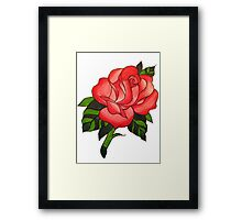 Traitional Tattoo Rose  Framed Print
