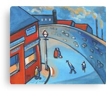 Wall street (from my original acrylic painting) Canvas Print