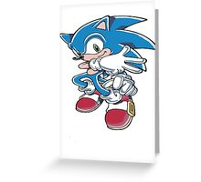 Sonic the Athlete Greeting Card