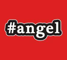 Angel - Hashtag - Black & White Baby Tee