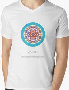 Divine Now - Mandala with Description Mens V-Neck T-Shirt