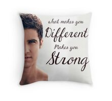 Darren Criss Quote Throw Pillow