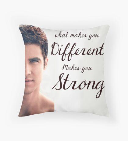 Darren Criss Quote Throw Pillow