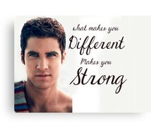 Darren Criss Quote Canvas Print