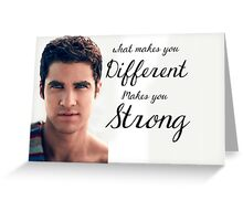 Darren Criss Quote Greeting Card