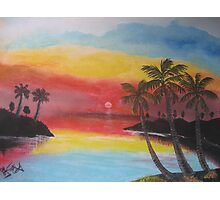 Tropical Evening Photographic Print