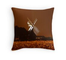 Skidby Mill at Night Throw Pillow