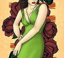 Pinup Girl In Green by CatAstrophe