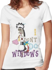 Discord - I Don't Do Windows Women's Fitted V-Neck T-Shirt