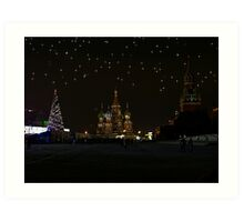 Christmas Time at Red Square Art Print