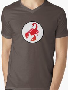 Red Scorpion Mens V-Neck T-Shirt