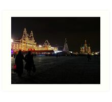 Christmas in Red Square Art Print