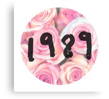 1989 (Floral) Canvas Print
