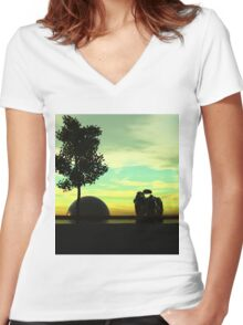 CYCL 7 Women's Fitted V-Neck T-Shirt