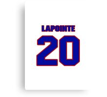 National Hockey player Martin Lapointe jersey 20 Canvas Print