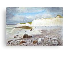 Birling Gap by John Rees Canvas Print