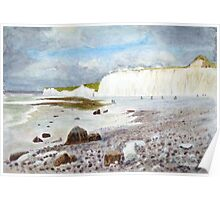 Birling Gap by John Rees Poster