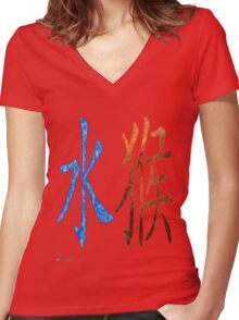 Water Monkey 1932 and 1992 Women's Fitted V-Neck T-Shirt