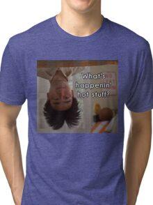 What's happenin', hot stuff? - Long Duk Dong - Sixteen Candles Tri-blend T-Shirt