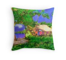 A MEMORY OF A HOUSE I LIVED AT IN OAXACA, MEXICO Throw Pillow