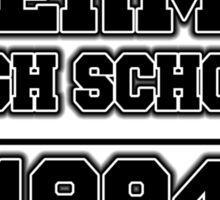 SHERMER HIGH SCHOOL - 1984 Sticker