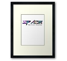 The Final Frontier - Space Framed Print