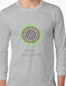 Divine Free Essence Mandala with description Long Sleeve T-Shirt