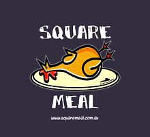 Crazy Chicken Square Meal by Penny - dark shirt  Womens Fitted T-Shirt