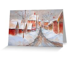 The Back Lane Greeting Card