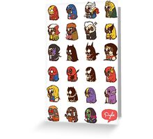 Puglie Heroes & Villains Greeting Card