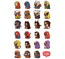 Puglie Heroes & Villains Photographic Print