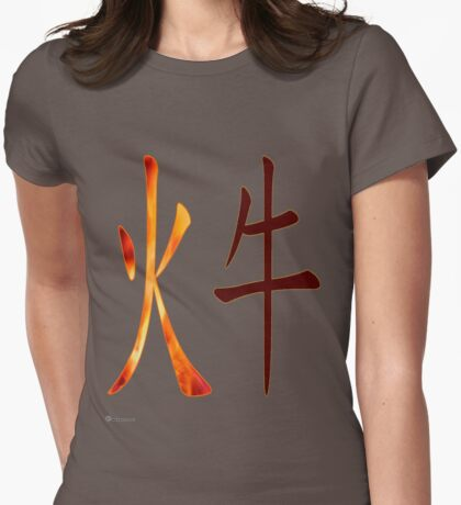 Fire Ox 1937 and 1997 Womens Fitted T-Shirt