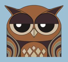 UNDERSTANDING OWL PORTRAIT One Piece - Short Sleeve