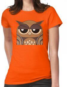 UNDERSTANDING OWL PORTRAIT Womens Fitted T-Shirt