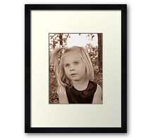 Portrait Of A Little Lady Framed Print
