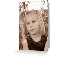 Portrait Of A Little Lady Greeting Card