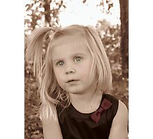 Portrait Of A Little Lady Photographic Print