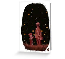 The grave of the fireflies Greeting Card