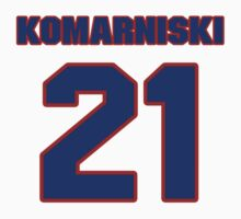 National Hockey player Zenith Komarniski jersey 21 by imsport