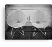 Two White Chairs - New Orleans, LA Canvas Print