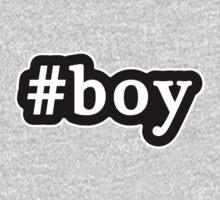 Boy - Hashtag - Black & White One Piece - Long Sleeve
